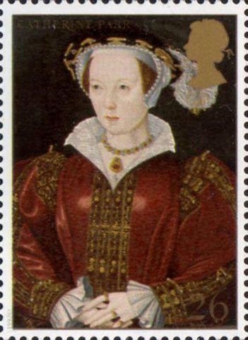 British Stamp - The Great Tudor 26p Stamp (1997) Catherine Parr