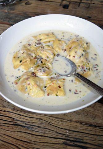 ravioles de saumon à la ricotta crème à la citronnelle