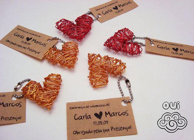Lembrancinha de Casamento: chaveiro coração grande by Loja OUI, via Flickr
