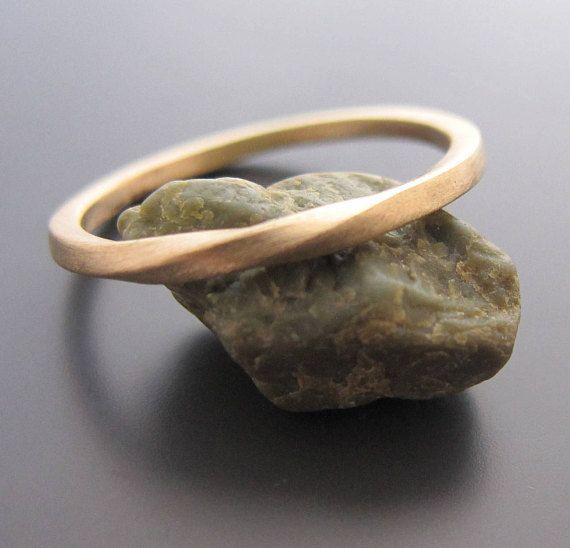 Seine und ihre Ringe, Ehering-Set, paar Ring, Mobius, Hochzeit Bänder sein und ihn, Mobius Eheringe, zart und zierlich Schmuck