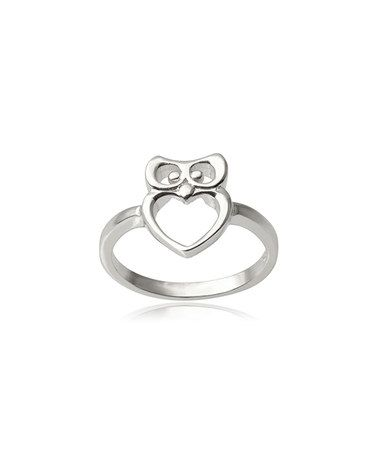 Loving this Sterling Silver Owl Ring on #zulily! #zulilyfinds