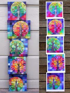Little Trees Growing set of 5 prints