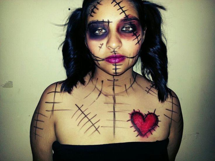 Voodoo doll makeup | Halloween | Pinterest