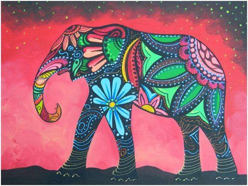 reminds me of elephants in thailand that are painted- def on my bucket list