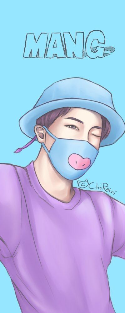 If mang were a boy,I hope his personality is same with hoseok since hoseok draw him XD
