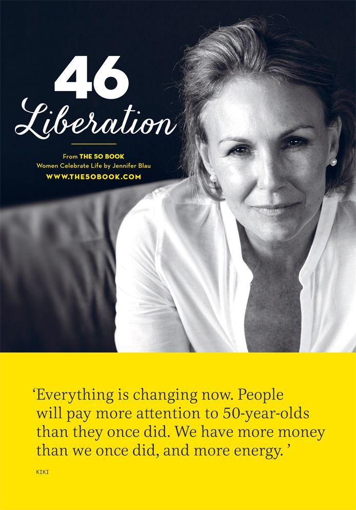 Getting older can be #liberating. What do you do to get noticed? #inspirational #motivationalquote @women #aging #liberation #the50book