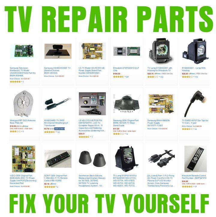 TV Repair Parts in 2020 | Tv services, Repair, Repair manuals