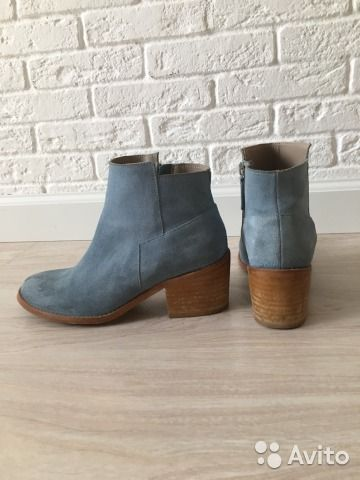 Ботинки женские замшевые— фотография №1