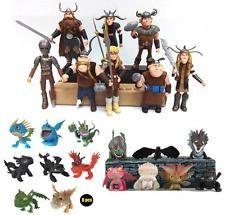 2/7/8/16pcs Figuren Puppen How to Train Your Dragon Drachenzähmen leicht gemacht