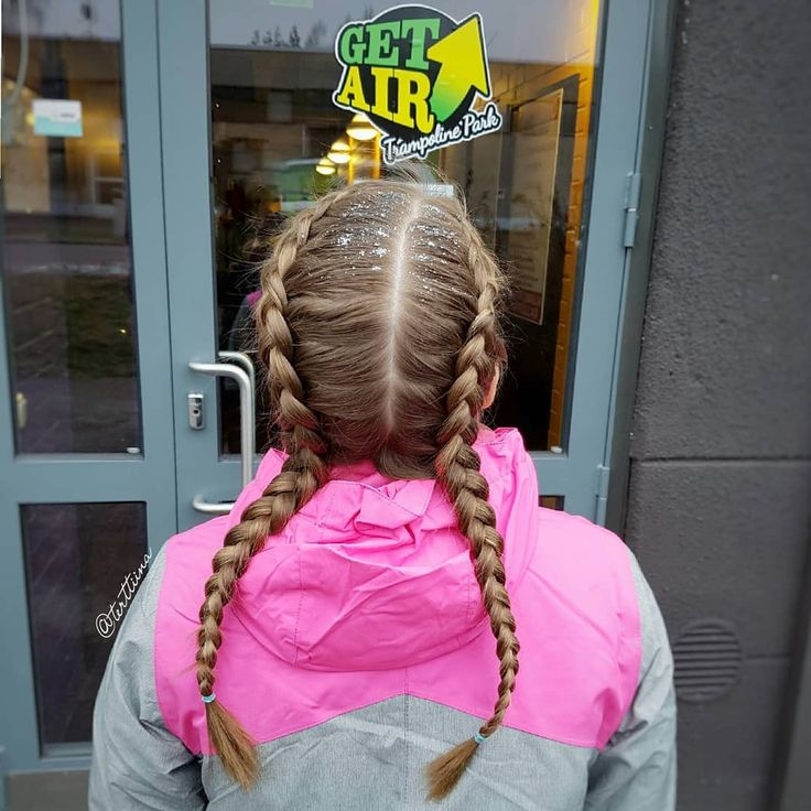 Braids & Hair  by @terttiina Instagram: Two dutch braids and some glitter!