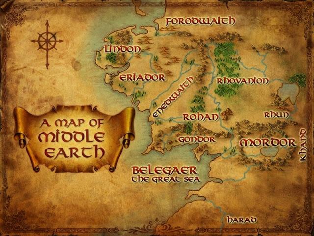 """Terra médiaé o nome para a terra antiga efictíciadeJ. R. R. Tolkien, onde a maioria dos contos do seu imaginário ocorrem.Terra Médiaé a tradução literal do termoanglo-saxãomiddangeard, referindo-se a este mundo, o reino dos humanos.Tolkientraduziu """"Terra-média"""" comoEndor(algumas vezes Endóre) eEnnornaslínguas élficasQuenyaeSindarin."""