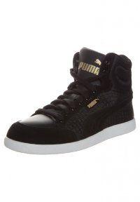Puma - PUMA IKAZ MID DAZZ - Sneakers hoog - black/team gold