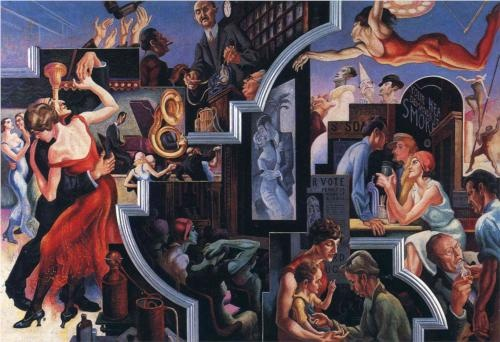 City Activities with Dance Hall - Thomas Hart Benton