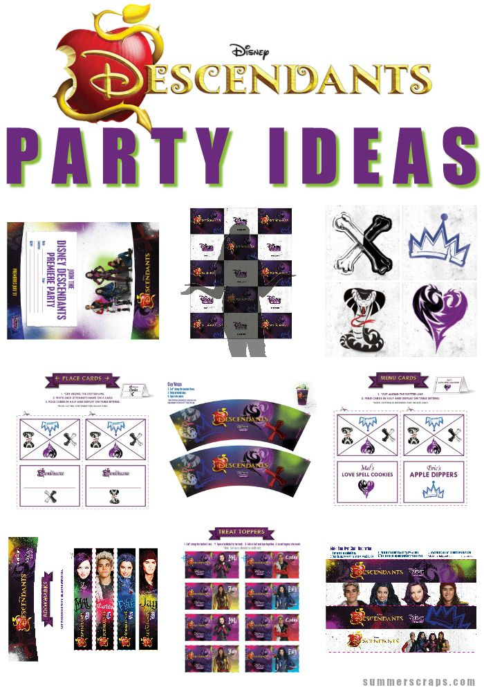 Throwing your next DisneyDescendants-inspired party just got a whole lot easier with thesefreeDisney Descendants Party ideas!