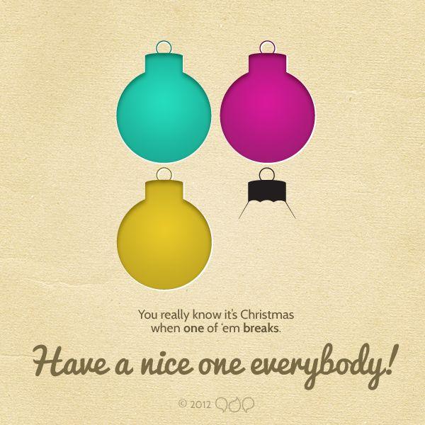 Ironic x-mas card. CMYK + tree decorations. globe, broken, holiday, vacation, santa