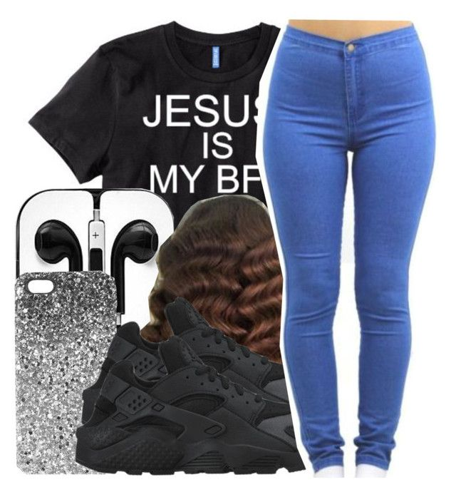 """"""""""" by missy143lol ❤ liked on Polyvore featuring Topshop and NIKE"""