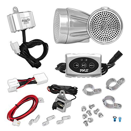 Pyle AZPLMCA62BT 600W Bluetooth Sound System for Motorcycle/ATV/Snowmobile. For product info go to:  https://www.caraccessoriesonlinemarket.com/pyle-azplmca62bt-600w-bluetooth-sound-system-for-motorcycle-atv-snowmobile/