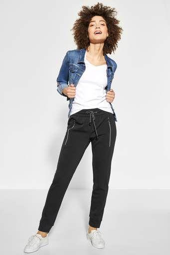 Shirt mit V-Neck Rhea - deep blue - STREET ONE Online-Shop