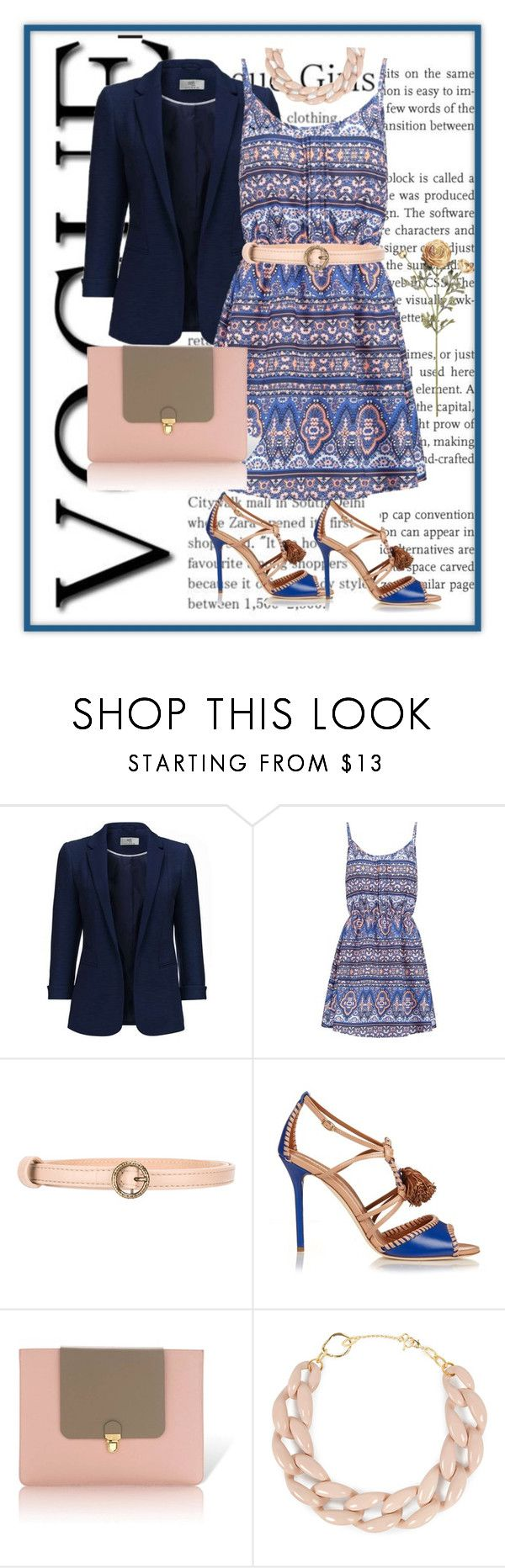 """""""Navy nude"""" by francymayoli ❤ liked on Polyvore featuring New Look, Agnona, Malone Souliers, Jurekka and DIANA BROUSSARD"""
