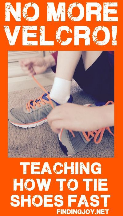 Frustrated with teaching how to tie shoes? This method works. Fast.
