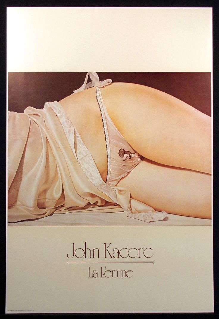 John Kacere  La Femme  Vintage Art Poster 1982 woman in underwear Make Offer | eBay