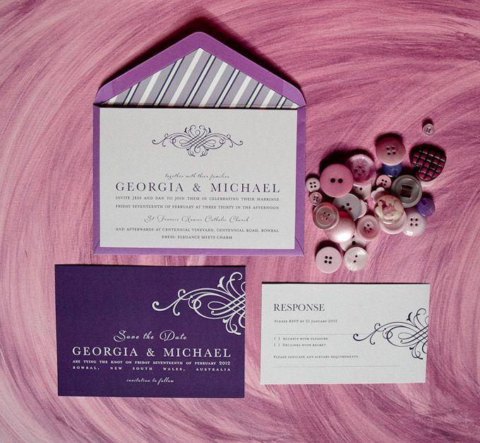 Elegance wedding invitation.  The Paper Mint || thepapermint.com.au