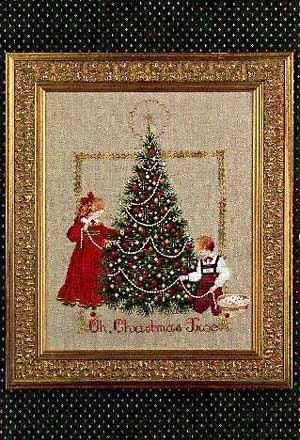 Oh Christmas Tree a Christmas cross stitch pattern by Lavender and Lace