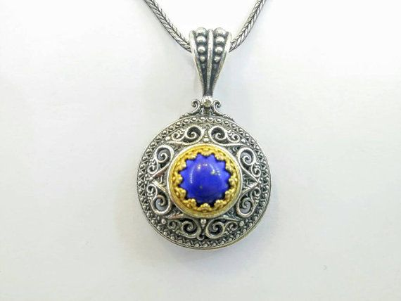 Check out this item in my Etsy shop https://www.etsy.com/uk/listing/505844985/lapis-lazuli-pendant-in-silver-with