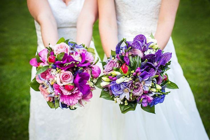 Bruidsboeketten lesbische bruiloft