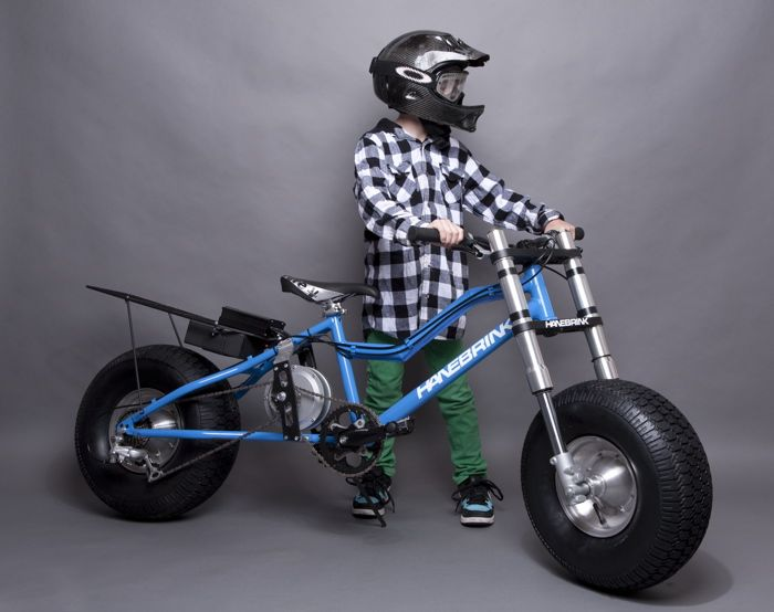 Batkid in training...LOL. No, its really a hybrid bike. You can ride it in almost any terrain.
