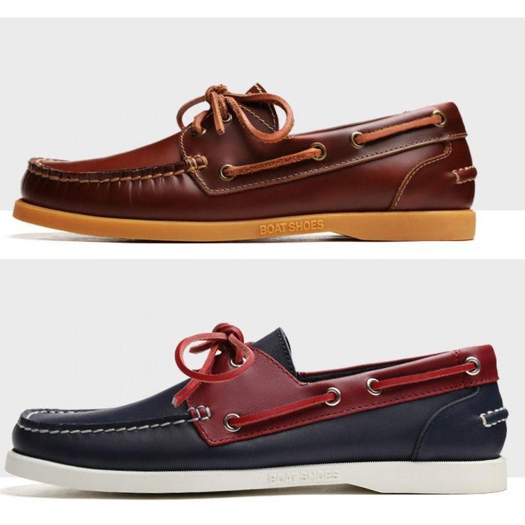 Chaussures bateau pour homme en cuir classiques