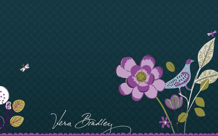 Vera Bradley Floral Nightingale Desktop Wallpaper Living