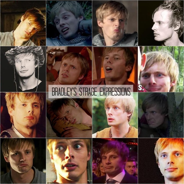 Even though they are strange expressions I still think he's perfect.