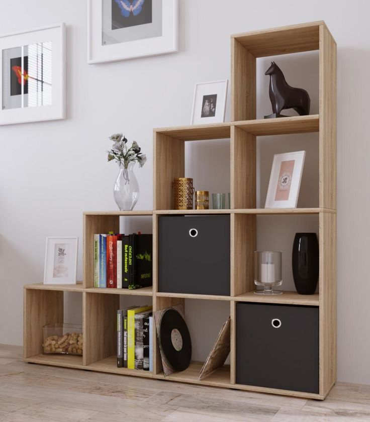 Bucherregale Aus Holz Privatausstellung Wohnzimmerwand. die besten ...
