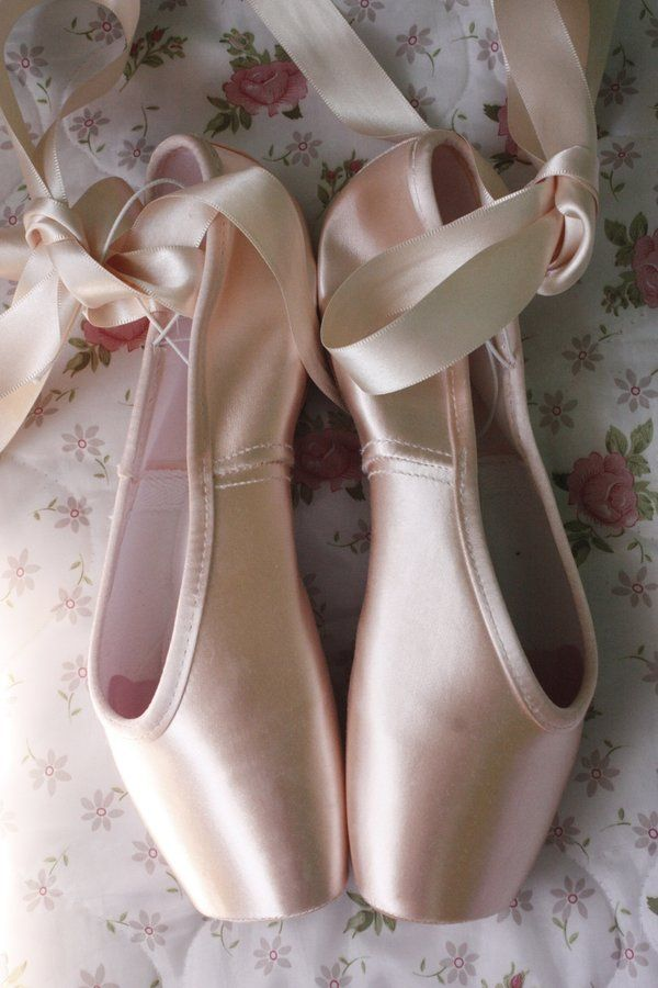 new pointe shoes- before they get so dirty you start to think that they were always that horrible shade of grey....