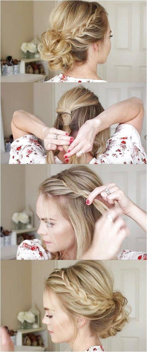 24 Beautiful Bridesmaid Hairstyles For Any Wedding - Lace Braid Homecoming Updo Missy Sue - Beautiful Step by Step Tutorials and Ideas for Weddings. A...