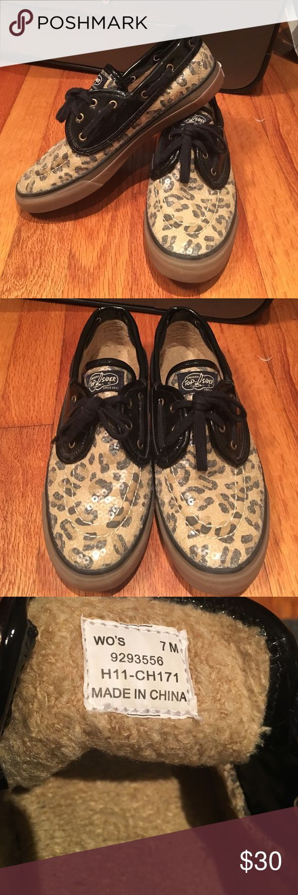 Sequined leopard Sperry top-siders Cuter and comfortable sperrys! Sperry Top-Sider Shoes Sneakers