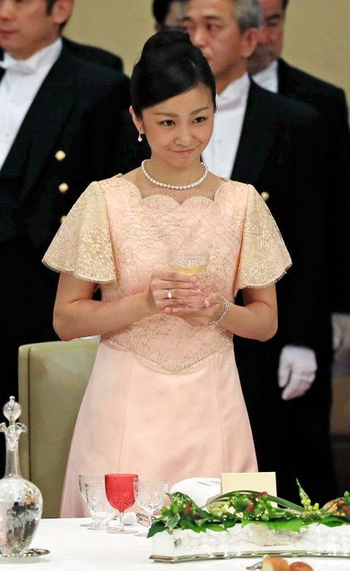 imperialfamilyjapan:  Philippine Visit to Japan, Imperial Banquet, June 3, 2015-Princess Kako
