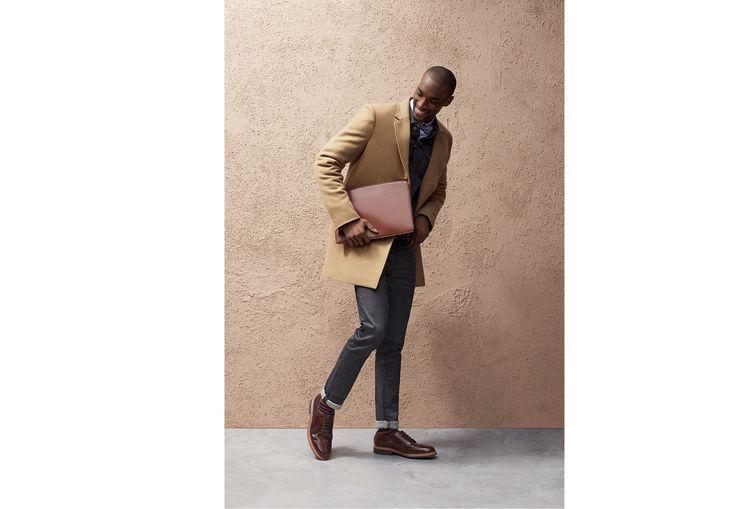 Manteau long en laine majoritaire  Camel Homme - Jules
