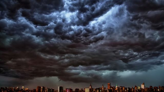 Derecho Hits New York: Here's a Picture of the New York City Skyline at Approximately 8 PM
