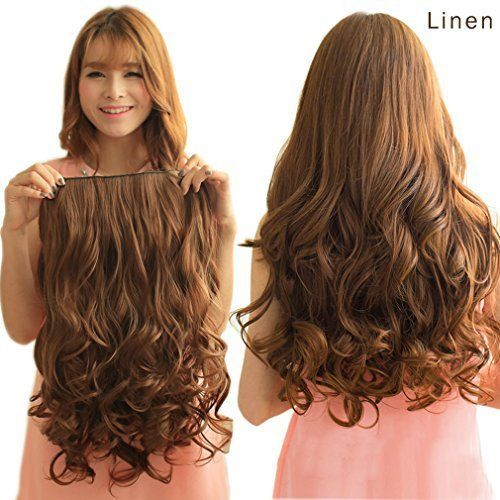 """Details about REECHO 20"""" 1-pack 3/4 Full Head Curly Wave Clips in on Synthetic Hair Extensions"""