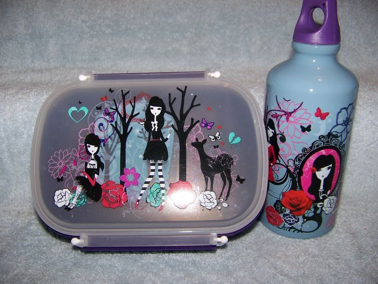 gothic girl bento box and steel water bottle my personal. Black Bedroom Furniture Sets. Home Design Ideas