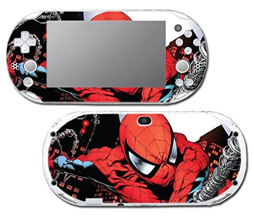 SpiderMan Spiderman Comic Movie Video Game Vinyl Decal Skin Sticker Cover for Sony Playstation Vita Slim 2000 Series System ** Want additional info? Click on the image.