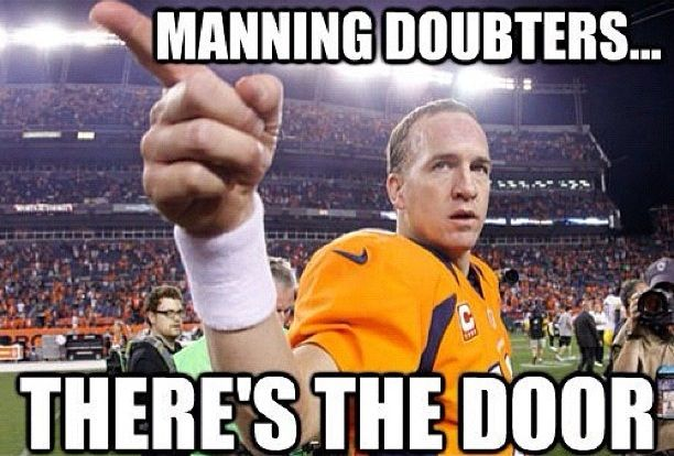 Peyton Manning - Denver Broncos.  ONCE A VOL ALWAYS A VOL!!!! GO BIG ORANGE AND GO BRONCOS!!!!!