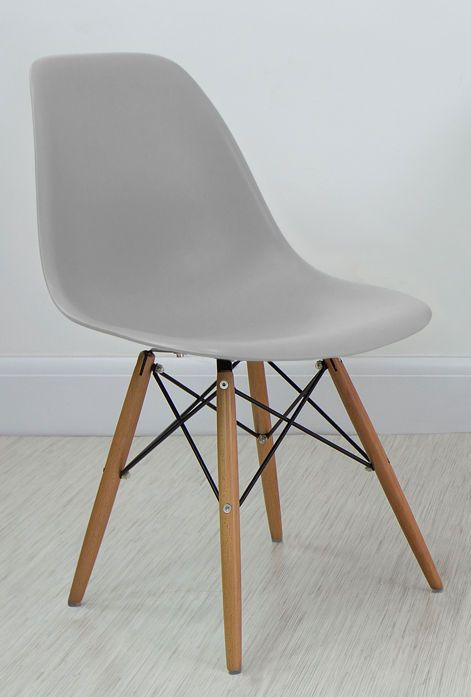 cool grey eames style dining chair from danetti