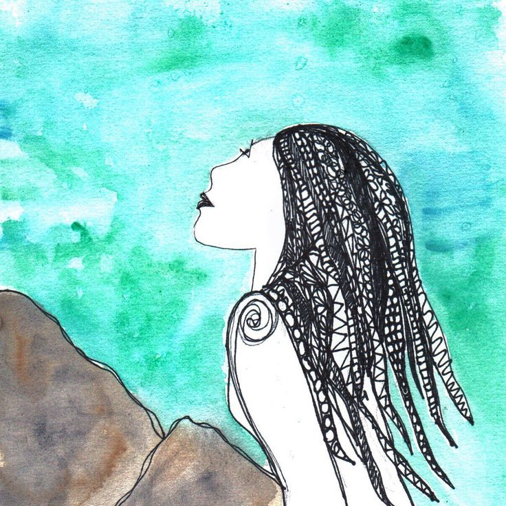 It's ok to dream of what could be as long as you don't stop being. Drawn with a single line - we are all  connected   #quote #positivity #mermaid #ocean #watercolour #art