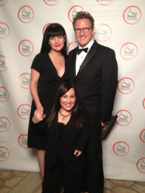 'Me, @Meredith Dlatt Eaton and #NCIS writer and @Shane Evans's Inspiration founder @mostx1 aka Scott Williams ' via Pauley's twitpic