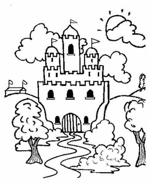 Castles Coloring Page 15 Is A From BookLet Your Children Express Their Imagination When They Color The