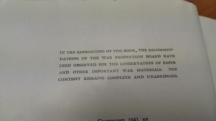 conservation of paper and other important war materials