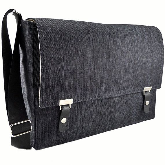 "15"" Laptop messenger bag - dark blue denim - make it yourself http://www.offsetwarehouse.com/dark-blue-denim-2293.html"